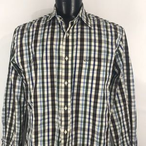 Paul & Shark Button Down Plaid Shirt Italian Made